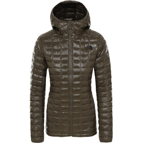 The North Face ThermoBall Eco Hoodie Jacket Women New Taupe Green